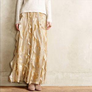 Moulinette Soeurs Fallen Star Gold Maxi Skirt